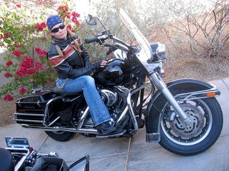 Woman Harley Rider