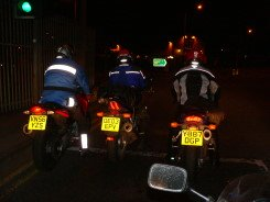 Night Riding- note the differences in visibility