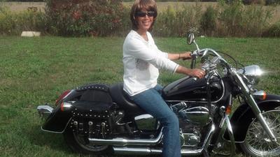 Anita's first ride!