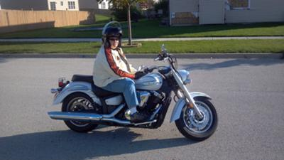 Deb's first ride...