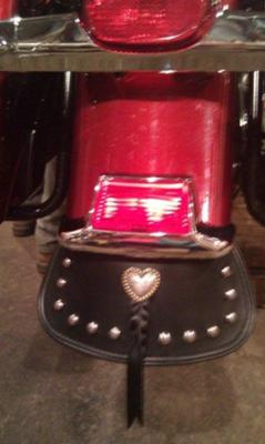 Heart Concho added to Mud Flap