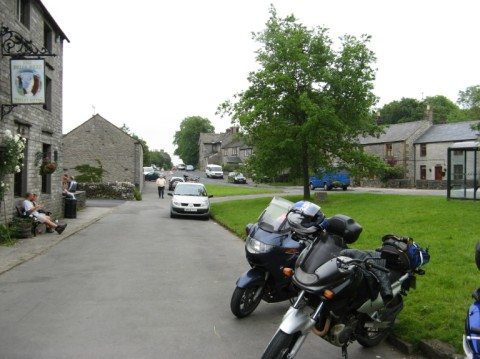 A small english village welcomes our motorcycles.