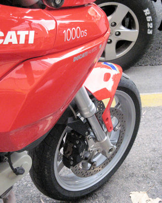 My pretty Ducati - before it stopped running.