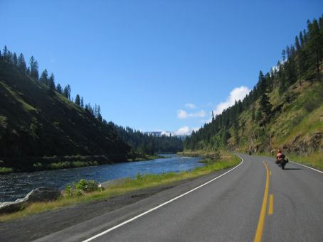 To my left is the Lochsea river, as I ride down the Lolo pass toward  Kaskia, Idaho.