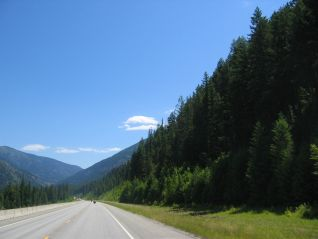 A sunny road somewhere in the western States.