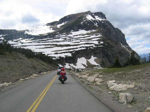That's me - heading for some higher elevations and snow - near Glacier National Park in Northern Idaho
