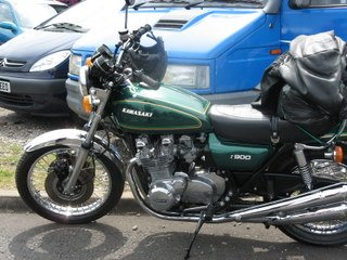A Beautiful Older Kawasaki Motorcycle