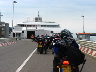Boarding the Steam Packet cat ferry on our way to the Isle of Man