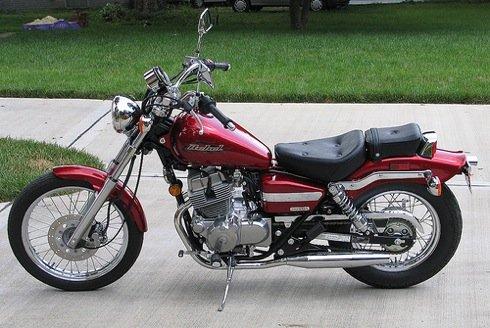 Beautiful Red Honda Rebel Motorcycle