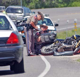 Motorcycle Accident Scene