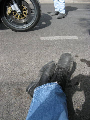 My Most favorite, and well-worn motorcycle boots.