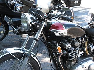 Nice vintage Triumph motorcycle