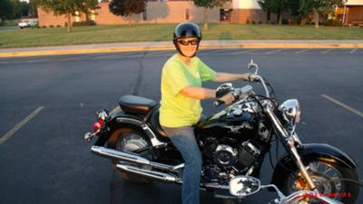 Me, shortly after I got my motorcycle endorsement