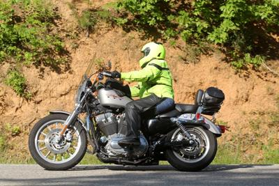 Steph on US129, Deal's Gap, NC